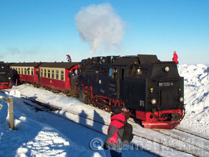 Brockenbahn im Winter - Copyright Sternal Media